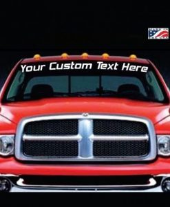 Image of Custom Windshield Truck Decal