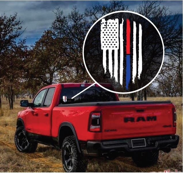 Image of Police Line Truck Decal