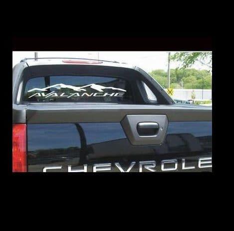 Truck Back Window Decals >> Chevy Avalanche Rear Window Decal Sticker