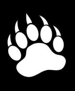 Bear Paw BUY 2 GET 1 FREE Vinyl Graphic Decal Sticker