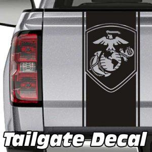 Image of USMC Globe Tailgate Decal Sticker