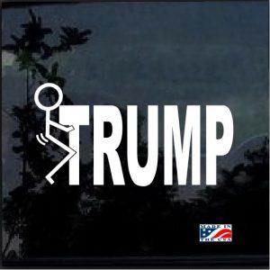 Fuck donald trump graphic decal sticker