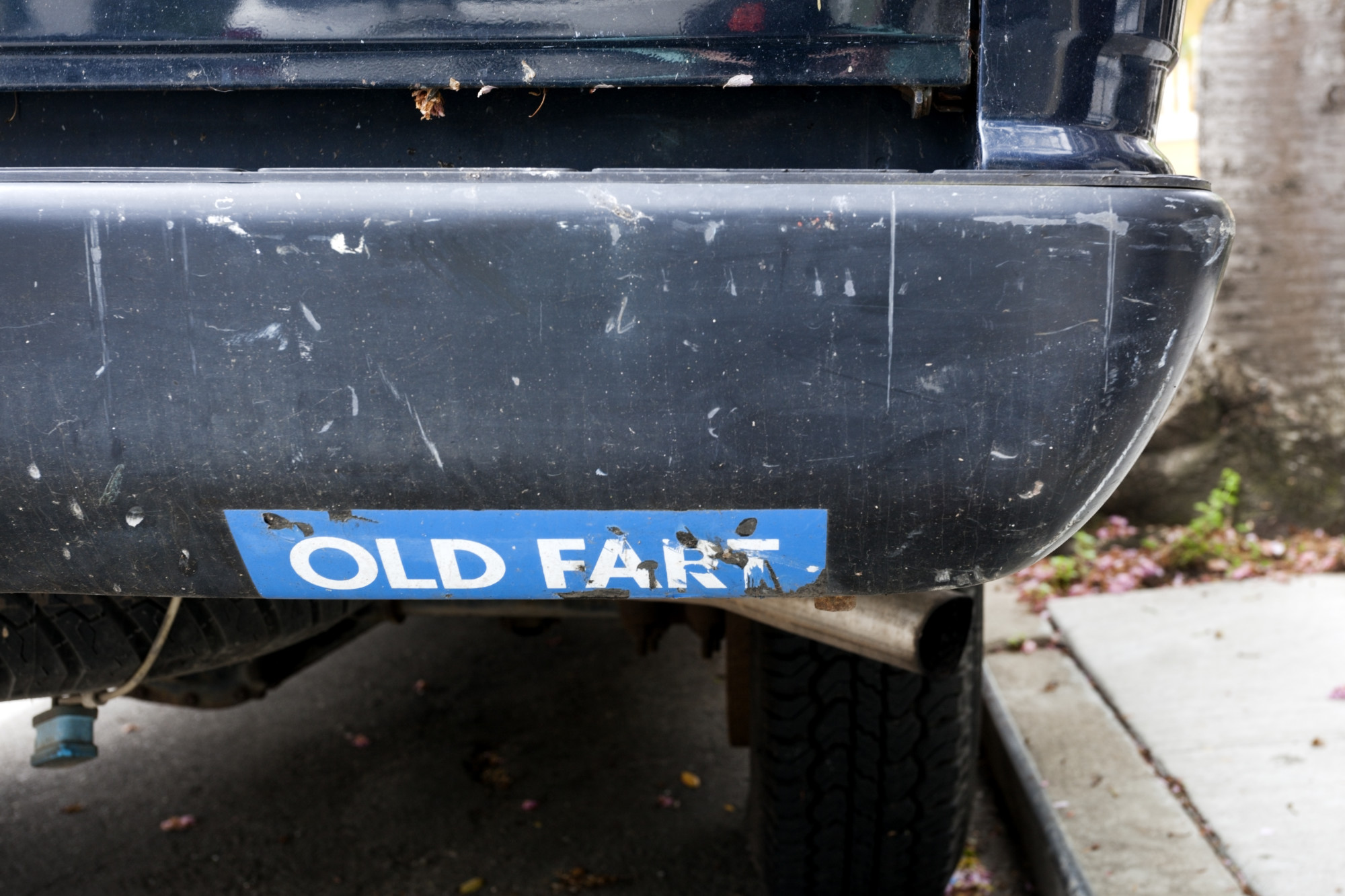 Old Fart graphic decal bumper sticker