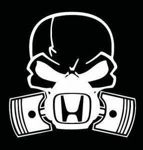 Honda skull mask decal sticker