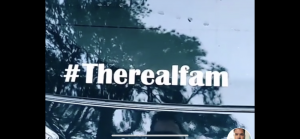 Image of #TheRealFam Window Decal Sticker