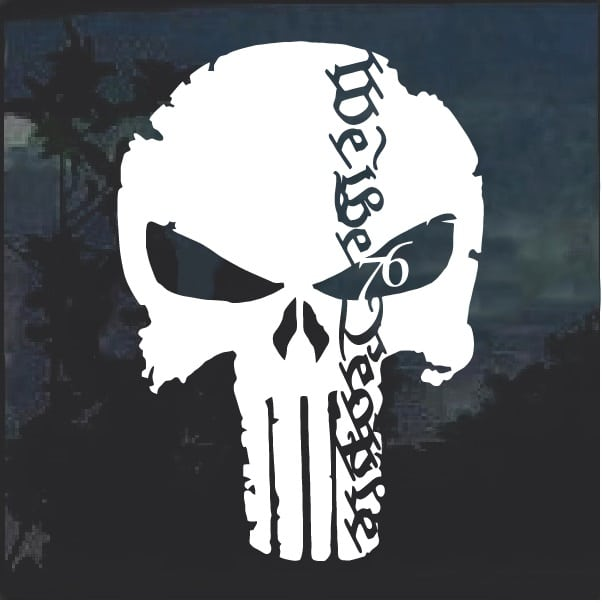 We The People Punisher Decal Sticker
