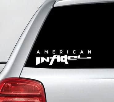 American Infidel Inside Decal Sticker