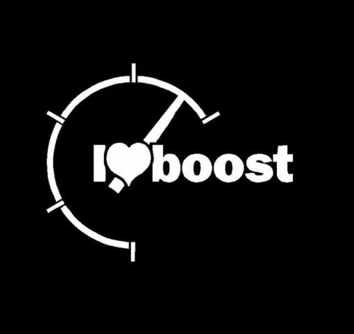 I Love Boost Decal Sticker