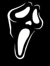 Scream Mask Logo Decal Sticker
