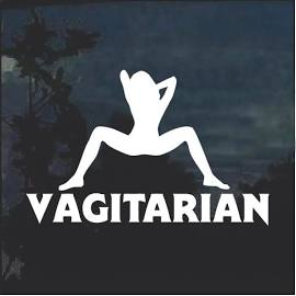 Vagitarian graphic decal sticker