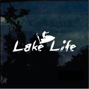 Lake Life Jet Ski  A2 Decal Sticker