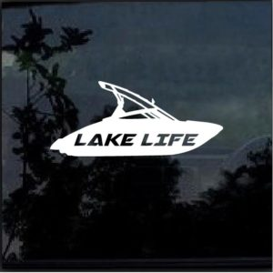 Lake Life Ski Boat Decal Sticker