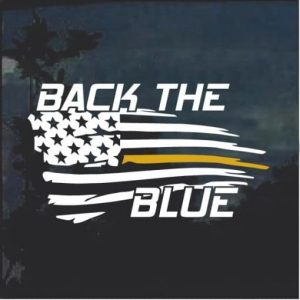 Back the Blue Decal Sticker